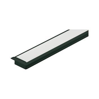Koncovka pro hliníkový vestavný profil YT01, hliník černá RAL 9005
