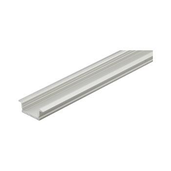 Hliníkový vestavný profil YT01, stříbrný elox, bez krytky, k zakrácení