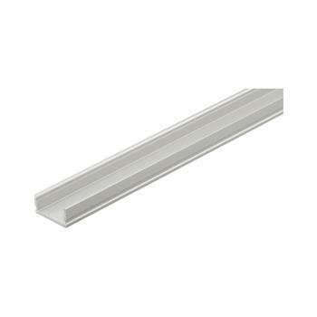 Hliníkový nástavný profil YT02, k zakrácení, stříbrný elox, bez krytky