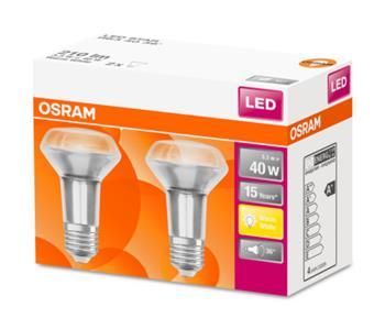 OSRAM LED STAR R63 36° 230V 3,3W 827 E27 noDIM A Sklo 210lm 2700K 15000h (krabička 2ks)