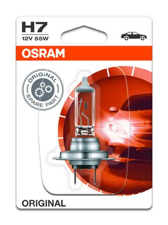 OSRAM autožárovka H7 STANDARD 12V 55W PX26d (Blistr 1ks)