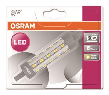 OSRAM žárovka LED Star LINE 230V 60 6,5W/827 R7S
