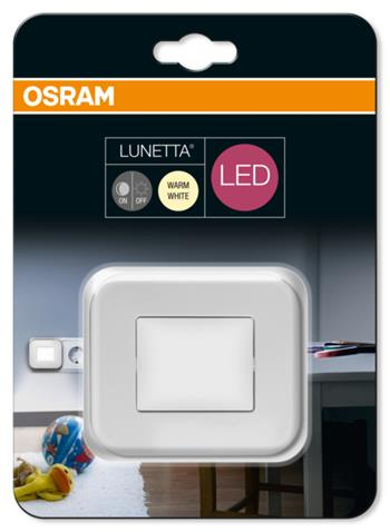 OSRAM LED Svítidlo zásuvkové LUNETTA Hall White 230V N/AW 0 noDIM A+ Plast 3lm 3000K 25000h (blistr 1ks)