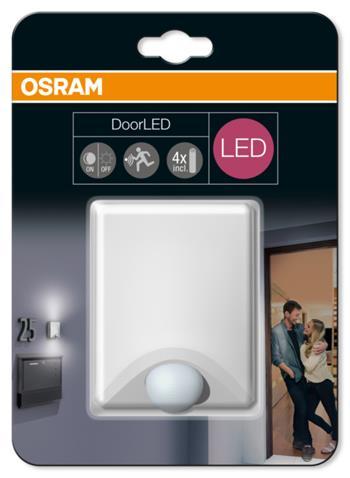OSRAM LED Svítidlo mobilní DoorLED UpDown White SENSOR 230V N/AW 0 noDIM A+ Plast 40lm 4000K 25000