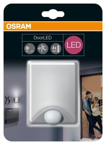 OSRAM LED Svítidlo mobilní DoorLED UpDown Silver SENSOR 230V N/AW 0 noDIM A+ Plast 40lm 4000K h (b