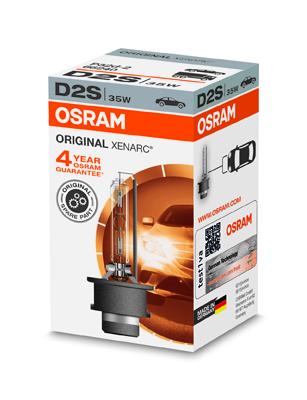 OSRAM xenonová výbojka D2S XENARC 12/24V 35W P32d-2 4300K živ.3000h (Krabička 1ks)