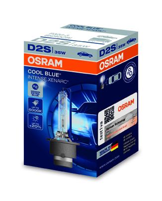 OSRAM xenonová výbojka D2S XENARC COOL BLUE INTENSE 12/24V 35W P32d-2 6000K živ.2800h (Krabička 1ks)