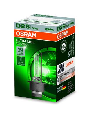 OSRAM xenonová výbojka D2S XENARC ULTRALIFE 12/24V 35W P32d-2 4300K živ. až 300000 km (Krabička 1ks)