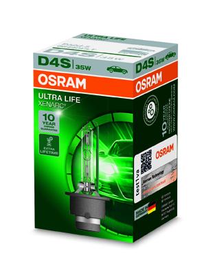 OSRAM xenonová výbojka D4S XENARC ULTRALIFE 12/24V 35W P32d-5 4300K živ. až 300000 km (Krabička 1ks)