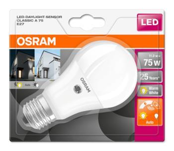 OSRAM LED STAR+ ClasA 230V 11W 827 E27 noDIM A+ Plast matný 1055lm 2700K 25000h (blistr 1ks)