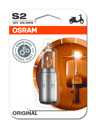 OSRAM motožárovka S2 MOTO STANDARD 12V 35/35W BA20d (Blistr 1ks)