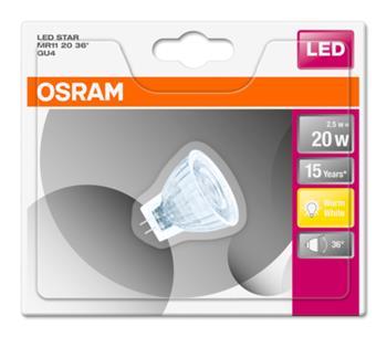 OSRAM LED STAR MR11 36° 12V 2,5W 827 GU4 noDIM A+ Sklo 184lm 2700K 15000h (blistr 1ks)