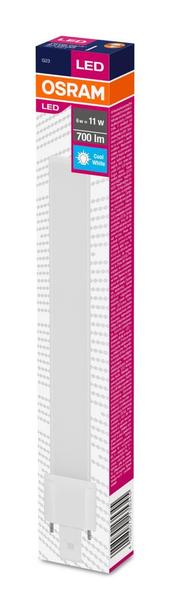 OSRAM LED DULUX S 230V 6W 840 G23 noDIM A+ Plast matný 0lm 4000K 3