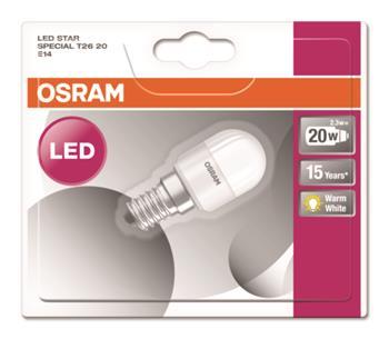 OSRAM LED STAR SPECIAL T26 230V 2,3W 827 E14 noDIM A++ Plast matný 200lm 2700K 15000h (blistr 1ks)