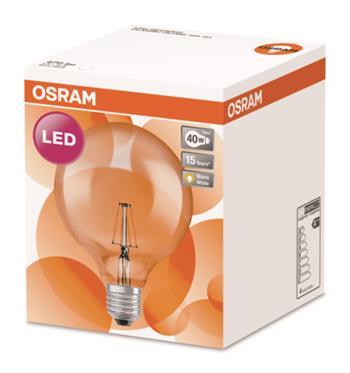 OSRAM LED Filament STAR Globe 125 230V 4,5W 827 E27 noDIM A++ Sklo čiré 470lm 2700K 15000h (krabička 1ks)