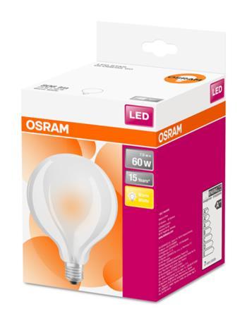 OSRAM LED STAR Globe 95 230V 7W 827 E27 noDIM A++ Sklo matné 806lm 2700K 15000h (krabička 1ks)