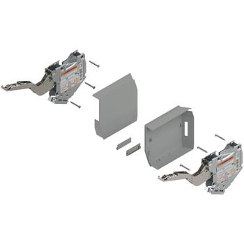Blum 20K2E00T Aventos HK-S silný TIP-ON + krytky šedé - bez čelního kování /211366/