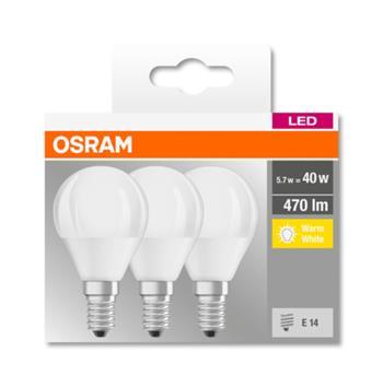OSRAM LED LED ClasP 230V 5,7W 827 E14 noDIM A+ Plast matný 470lm 2700K 10000h (krabička 3ks)