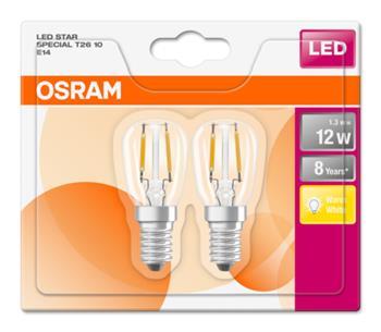 OSRAM LED Filament STAR SPECIAL T26 230V 1,3W 827 E14 noDIM A++ Sklo čiré 110lm 2700K 8000h (blistr 2ks)
