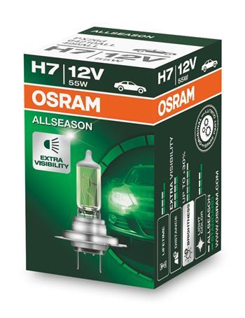OSRAM autožárovka H7 ALLSEASON SUPER 12V 55W PX26d (Krabička 1ks)