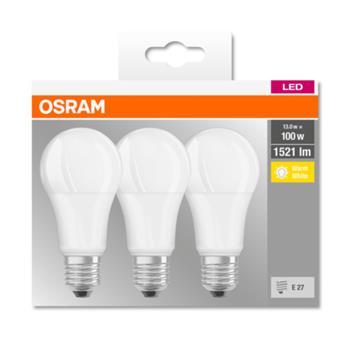 OSRAM LED LED ClasA 230V 13W 827 E27 noDIM A+ Plast matný 1521lm 2700K 10000h (krabička 3ks)