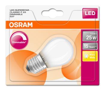 OSRAM LED SUPERSTAR ClasP 230V 3,3W 827 E27 DIM A+ Sklo matné 250lm 2700K 15000h (blistr 1ks)