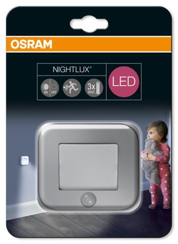 OSRAM LED Svítidlo mobilní NIGHT LUX Hall Silver SENSOR 230V N/AW 0 noDIM A Plast lm 4000K 25000h