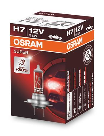OSRAM autožárovka H7 SUPER 12V 55W PX26d (Krabička 1ks)
