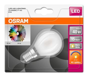 OSRAM LED STAR+ ClasP 230V 5W 927 E14 noDIM A+ Sklo matné 470lm 2700K 15000h (blistr 1ks)