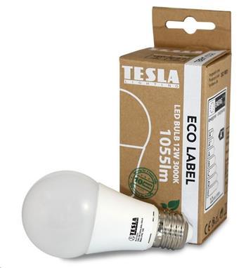 Tesla LED žárovka BULB E27, 12W, 230V, 1055lm, 25 000h, 2700K teplá bílá, 220° (náhrada BL271