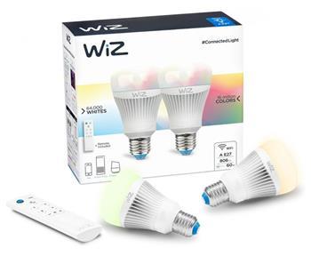 WiZ LED žárovka Colours A E27 + dálkové ovládání (krabička 2ks)