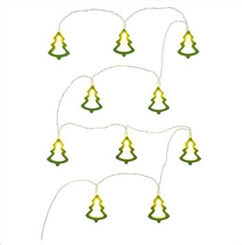 RETLUX RXL 286 vánoční dekorace 10LED, zelené stromky, dřevo, délka 1.3m+přívod 0.3m, 2x AA, barva teplá bílá