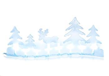 RETLUX RXL 281 dekorace svítící krajina 8LED, sob, 10x25cm+přívod 0.3m, 2x AA, barva studená bílá
