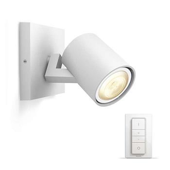 PHILIPS Runner Jednobodové svítidlo, Hue White ambiance, 230V, 1x5.5W GU10, Bílá