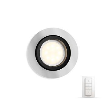 PHILIPS MILLISKIN Zapuštěné bodové svítidlo, Hue White ambiance, 230V, 1x5.5W GU10, Aluminium