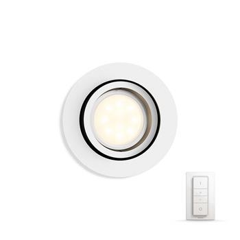 PHILIPS MILLISKIN Zapuštěné bodové svítidlo, Hue White ambiance, 230V, 1x5.5W GU10, Bílá