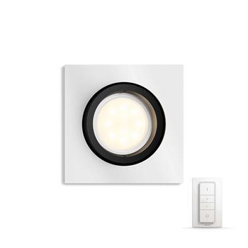 PHILIPS MILLISKIN Zapuštěné bodové svítidlo, čtvercové, Hue White ambiance, 230V, 1x5.5W GU10, Aluminium