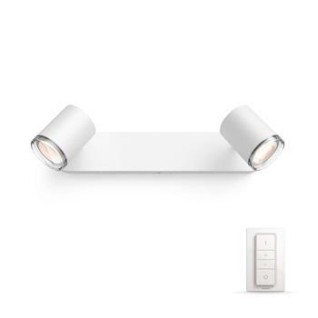 PHILIPS Adore Bodové svítidlo do koupelny, Hue White ambiance, 230V, 2x5.5W GU10, Bílá