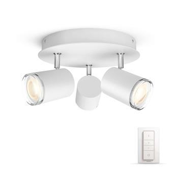 PHILIPS Adore Bodové stropní svítidlo do koupelny, Hue White ambiance, 230V, 3x5.5W GU10, Bílá