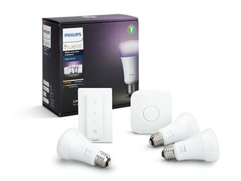 PHILIPS Hue Startovací KIT, White and Color Ambience( 3x žárovka 10W E27 A19 DIM + bridge + 1x ovlad