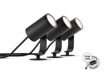 PHILIPS Lily Venkovní bodové světlo, Hue White and color ambiance, 230V, 3x8W integr.LED, Chrom matný