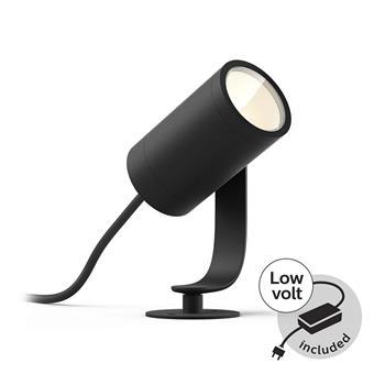 PHILIPS Lily Venkovní bodové světlo, Hue White and color ambiance, 230V, 1x8W integr.LED, Chrom matný