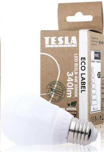 Tesla LED žárovka CRYSTAL RETRO miniglobe, E27, 4W, 230V, 470lm, 10 000h, 2700K teplá bílá, 360