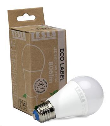 Tesla LED žárovka BULB E27, 9W, 230V, 806lm, 30 000h, 2700K teplá bílá, 200°, stmívatelná