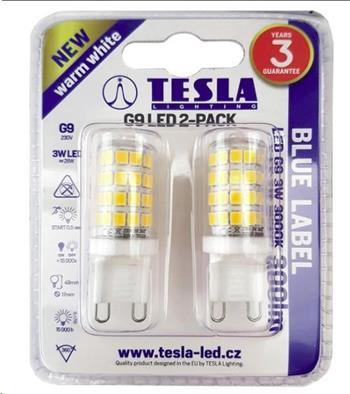 Tesla LED žárovka G4, 2W, 12V, 200lm, 15 000h, 3000K teplá bílá, 360° 2ks v balení