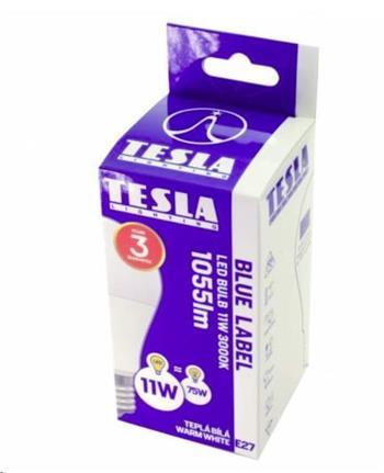 Tesla LED žárovka BULB E27, 11W, 230V, 1055lm, 25 000h, 3000K teplá bílá, 220°
