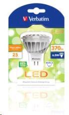 VERBATIM LED žárovka MR16 GU5.3 6.5W 3000K WW 370 LM 35 Degree