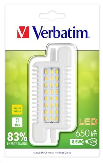 VERBATIM LED žárovka R7s 8.5W-50W ND 3000K 650LM