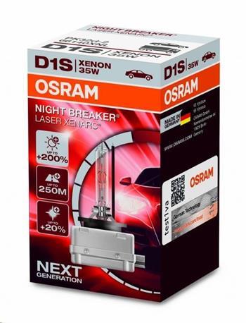 OSRAM xenonová výbojka D1S XENARC® NIGHT BREAKER® LASER 12/24V 35W PK32d-2 4500K živ.3000h (Krabička 1ks)