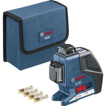 BOSCH Multifunkční čarový laser GLL 3-80 P + BT 150 + sada nářadí Gedore L-Box